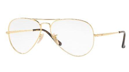 Occhiali da vista: il modello must sono gli aviator in metallo oro o argento