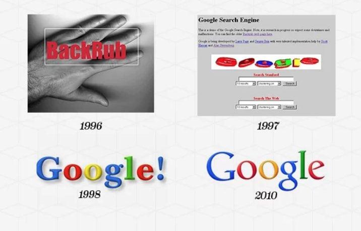 Il marchio creato da Kedar è rimasto in uso fino al 2010 quando Google ha lanciato il suo ultimo logo con ombre più sottili, colori più vivaci e senza punto esclamativo.
