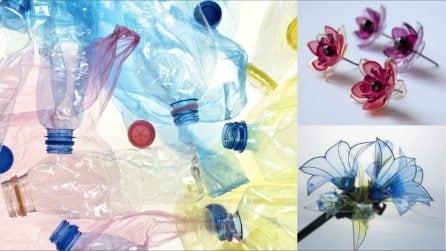 10 bellissimi fiori realizzati con le bottiglie di plastica