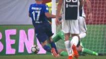 Il rigore concesso alla Lazio per fallo di Buffon su immobile