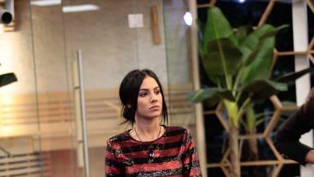 Giulia De Lellis indossa l'abito di paillettes al GF Vip