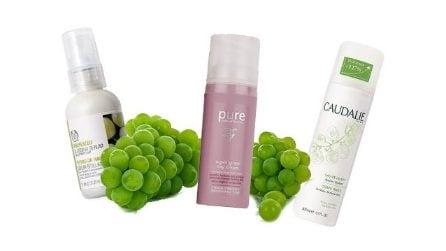 10 cosmetici a base di uva