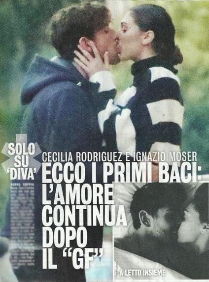 Cecilia Rodriguez e Ignazio Moser sono stati immortalati da 'Diva e Donna' nel corso di una romantica passeggiata a Roma. Nella foto pubblicata dal settimanale, la modella e il ciclista si scambiano un tenero bacio. L'amore continua anche fuori dalla casa del 'Grande Fratello Vip'.