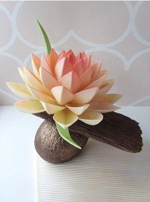 Un fiore di loto al cioccolato dipinto. Fonte: http://ebetys.blogspot.it/2017/02/suklaatoita.html
