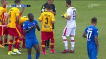 Babacar litiga con Thereau per tirare il calcio di rigore