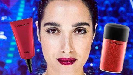 Labbra glitter come Levante: i rossetti da provare