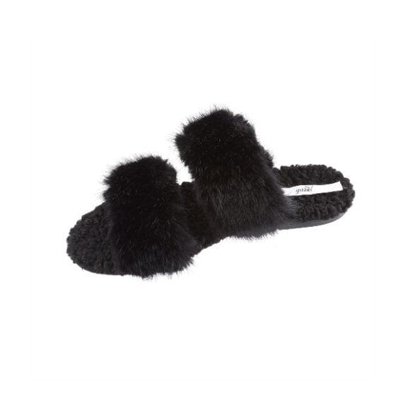 I sandali di pelo nero