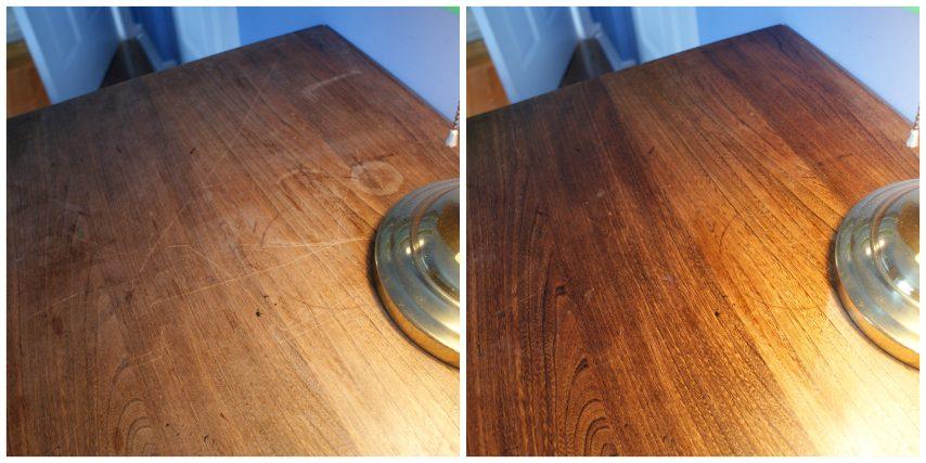 L'olio d'oliva aiuta a rimuovere la polvere dai mobili e gli dona lucentezza. Ne basta un cucchiaino in un quarto di tazza con succo di limone