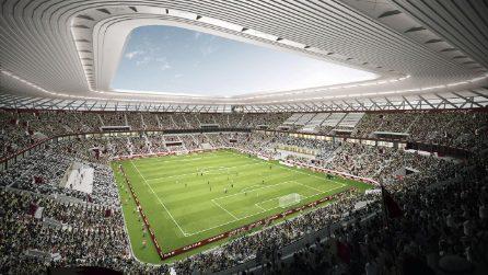 Ecco il Ras Abu Aboud Stadium in Qatar, il primo stadio smontabile al mondo
