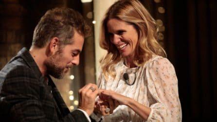 Filippa Lagerback: il romantico abito per la proposta in diretta Tv