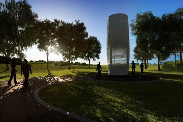 La Smog Free Tower è il più grande purificatore d'aria del mondo, che combina scienza ad alta tecnologia, design e fantasia. Usando la tecnologia agli ioni, la Torre purifica l'aria creando zone prive di inquinamento dove si potrà vivere meglio. E non è solo l'unica funzione della torre: le particelle di smog raccolte verranno compresse in cubi contenenti 1000 metri cubi di aria inquinata che diventeranno fantastici gioielli.