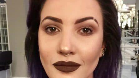 Eyebrow Slits: le sopracciglia tagliate si creano con il make up