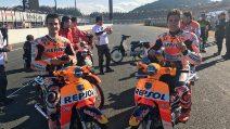 MotoGP, Marquez e Pedrosa si godono la festa Honda