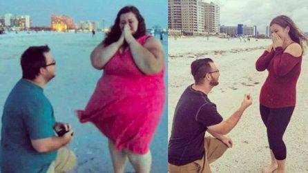 La coppia che documenta il dimagrimento drastico su Instagram