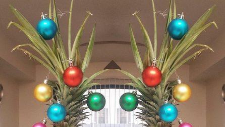 Gli alberi di Natale realizzati con gli ananas