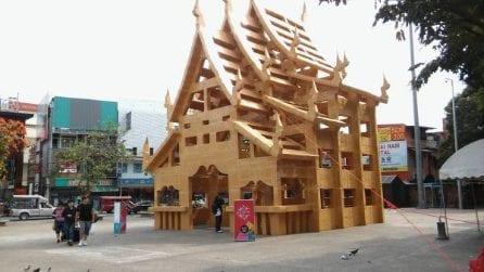 Il primo tempio di cartone in Thailandia