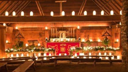 Migliaia di candele per illuminare Sainte-Marie among the Hurons a Natale