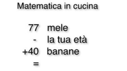 Matematica in cucina: il giochetto per calcolare il tuo anno di nascita