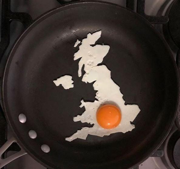 L'Inghilterra realizzata alla perfezione. Fonte: https://www.instagram.com/the_eggshibit/