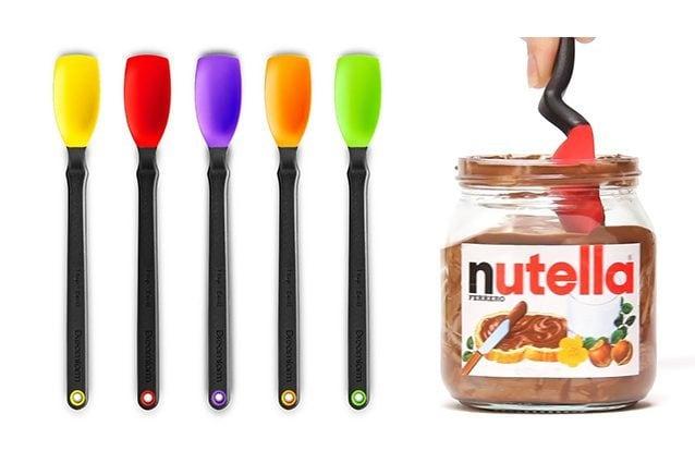 è il cucchiaino in grado di ripulire il barattolo di Nutella senza alcuno spreco