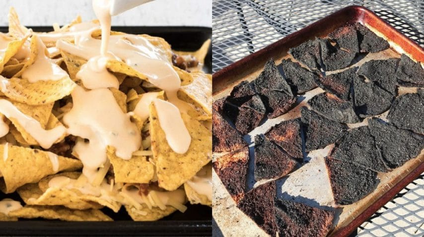 Nachos Fonte: http://www.recipetineats.com/ripper-beef-nachos/ - https://www.instagram.com/explore/tags/cookingfails/
