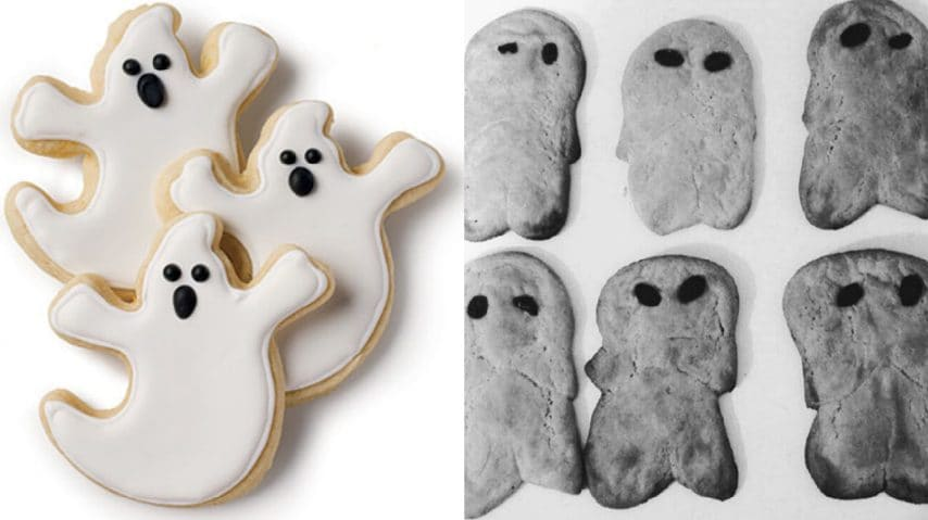 Biscotti a forma di fantasma. Fonte: https://www.southernliving.com/ - https://www.instagram.com/explore/tags/cookingfails/