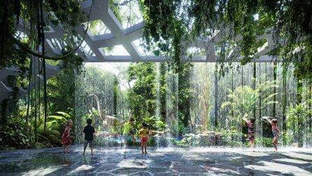 Immagini esclusive dal primo hotel al mondo con una foresta pluviale