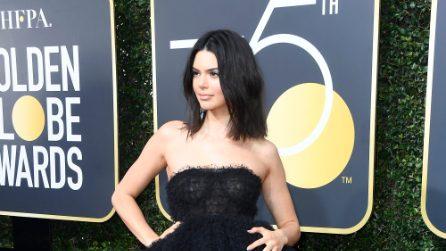 Il look di Kendall Jenner ai Golden Globe
