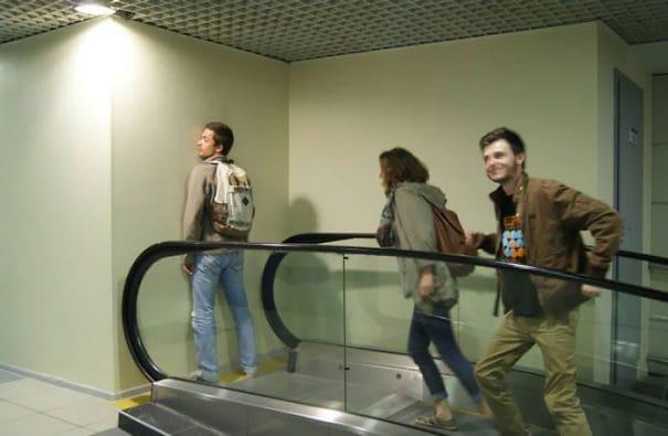 Scale mobili senza via d'uscita