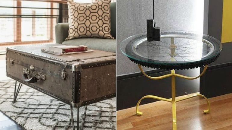 Gli oggetti comuni si trasformano 12 tavoli fai da te che for Oggetti fai da te