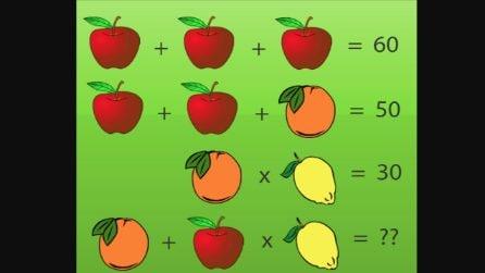 Operazioni matematiche alla frutta: qual è il risultato?
