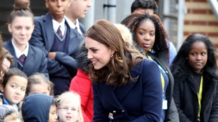 Kate Middleton senza collant in pieno inverno
