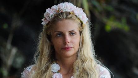 La corona di fiori di Francesca Cipriani all'Isola dei Famosi