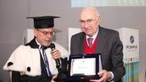 Premio alla carriera a Pippo Baudo all'università e-campus