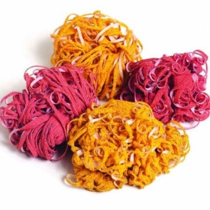 Have you ever heard about cotton and corn fiber sponges? They are excellent at removing stains on pots,metal, sinks and grills.