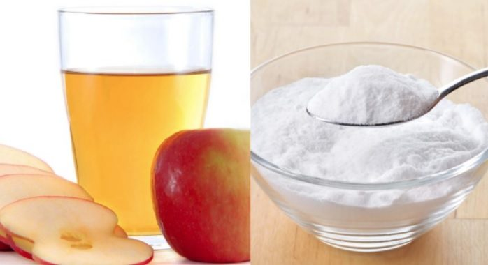 6 grams of baking soda + 6 grams of apple vinegar