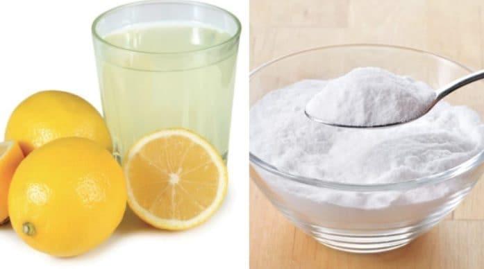 6 grams of baking soda + 35ml of lemon juice