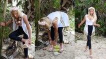 Francesca Cipriani non resiste e mette i tacchi a spillo sulla spiaggia dell'Isola dei Famosi 2018