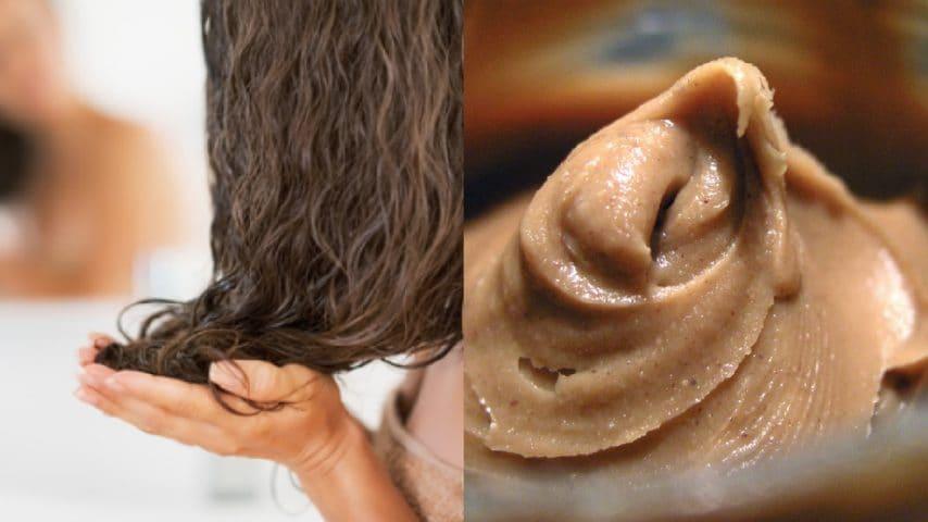 Preparate una maschera a base di burro di arachidi e rinforzate i vostri capelli.