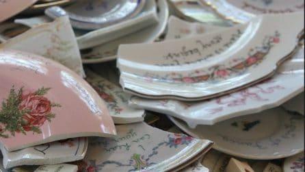Come riciclare in maniera creativa i piatti rotti