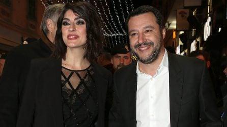 Elisa Isoardi e Matteo Salvini al Festival di Sanremo 2018