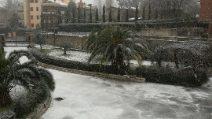 Nevica forte ai Castelli Romani, circolazione bloccata