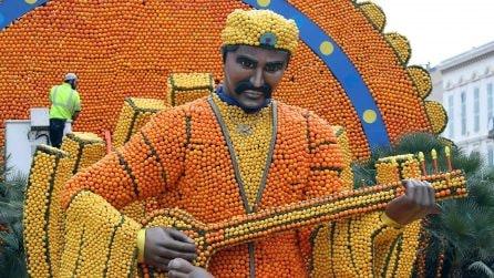 Festa dei Limoni a Mentone, le fantastiche sculture di limoni e arance