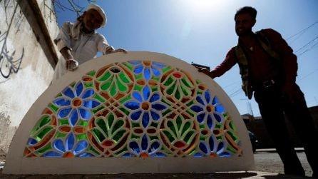 Qamariya, le vetrate multicolore tipiche dell'architettura yemenita