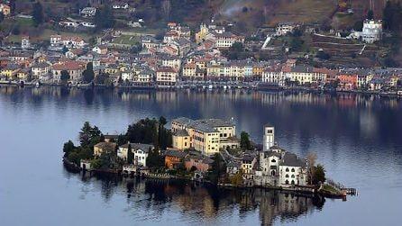 I pittoreschi scenari di Orta San Giulio, splendida cittadina sul Lago d'Orta