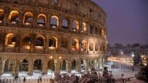 Roma imbiancata, i monumenti ricoperti di neve sono uno spettacolo