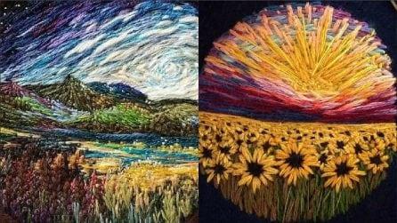 Sembrano quadri di Van Gogh: scoprite con cosa sono realizzati