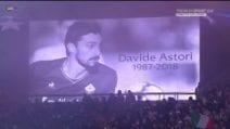 In Champions commozione nel minuto di silenzio per Astori