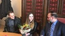 Rosa Di Domenico riabbraccia i suoi amici a Sant'Antimo