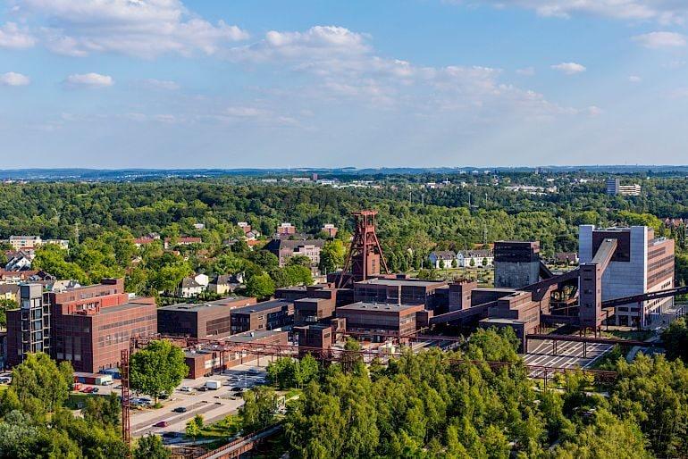 Foto aerea del patrimonio culturale mondiale UNESCO di Zollverein, 2014 © Jochen Tack / Stiftung Zollverein